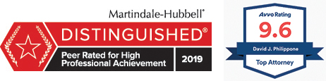 Martindale-Hubbell Distinguished Achievement & 9.6 Avvo Rating for Top Attorney